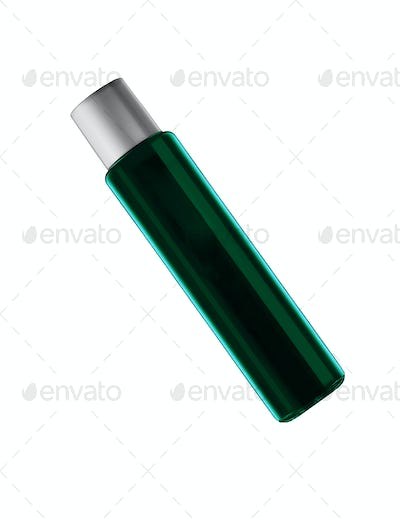 Dark blue parfume bottle isolated