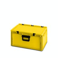 yellow plastic box