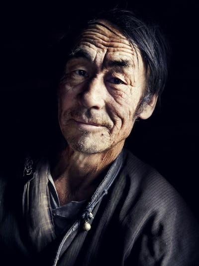 Mongolian Man in Traditional Dress