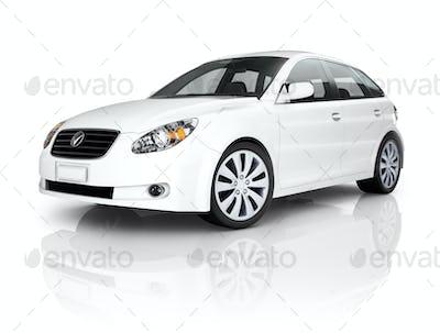 White Luxury Vehicle