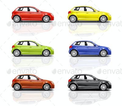 Collection of 3D Hatcback Cars