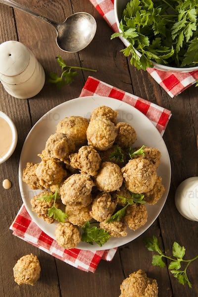 Homemade Deep Fried Mushrooms