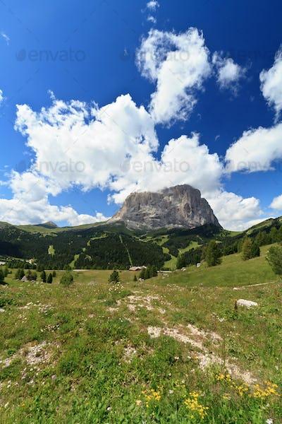 Gardena valley and Langkofel mount