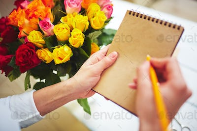Notes of florist