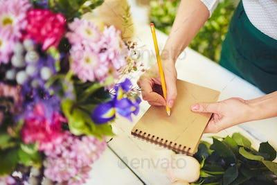 Writing flower names