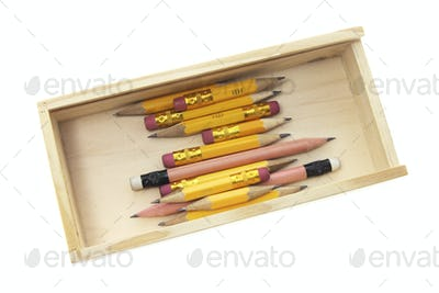 Pencils in Wooden Case