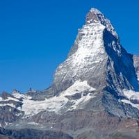 Tourists in front of the Matterhorn