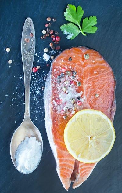 salmon steak