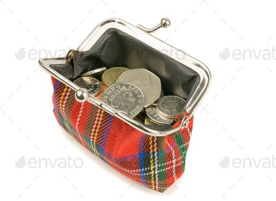 An Open Purse Full with Coins