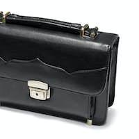 black business briefcase