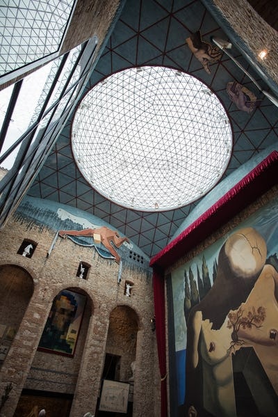 FIGUERES - OCTOBER 12: VisitingThe Dalí Theatre-Museum, on October 12, 2012 in Figueres, Spain
