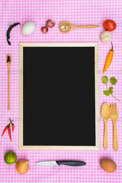 Food ingredient and copy space