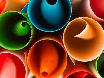 colorful curled paper background
