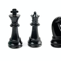 black chess isolated