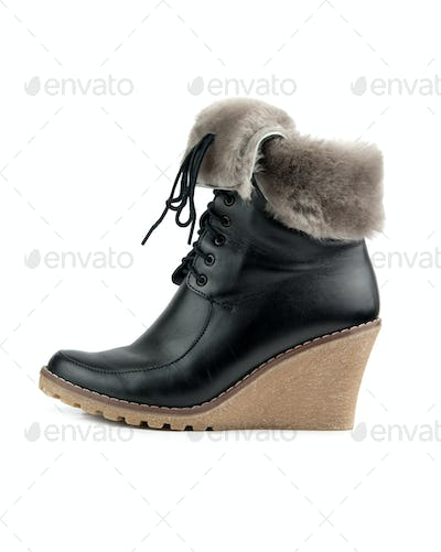 woman boot isolated