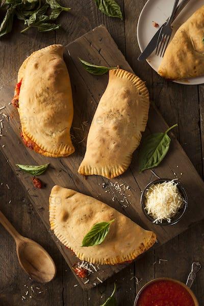 Homemade Italian Meat and Cheese Calzones