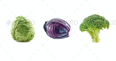 three cabbage