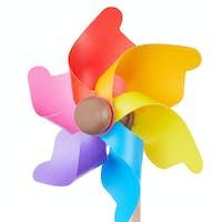 Pinwheel, colorful toy, isolated on white