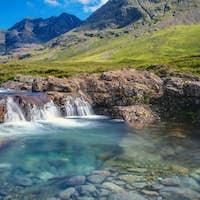 Small waterfall on the Isle of Skye