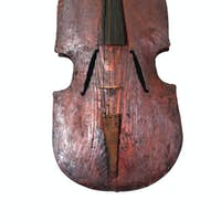 old vintage contrabass