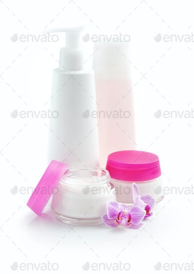 Cosmetic cream, lotion, face cream, makeup remover, isolated on