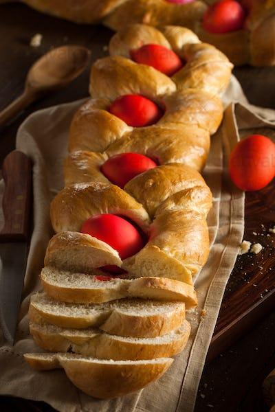 Homemade Greek Easter Bread