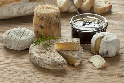 Traditional french goats cheeses