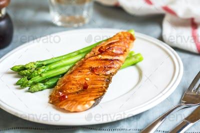 Grilled Chilli Salmon
