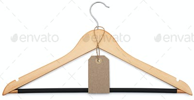 coat hanger and blank price tag