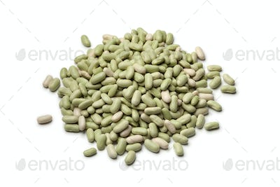 Heap of french flageolets beans