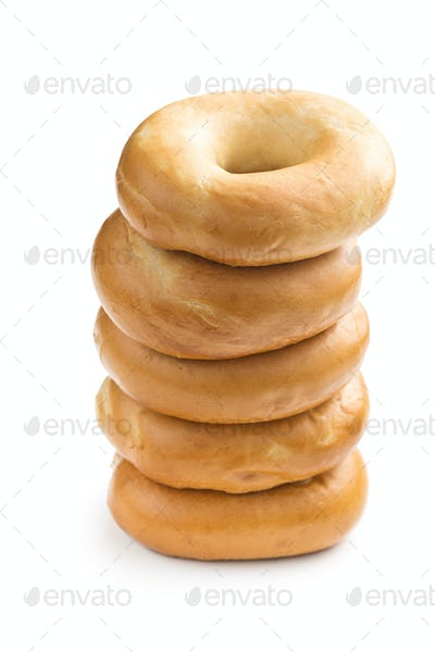 pile of bagels