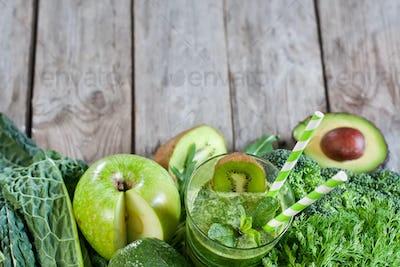 Green smoothie background