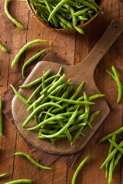 Raw Organic Green Beans