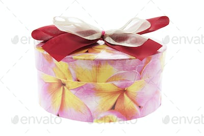 Round Gift Box with Bow