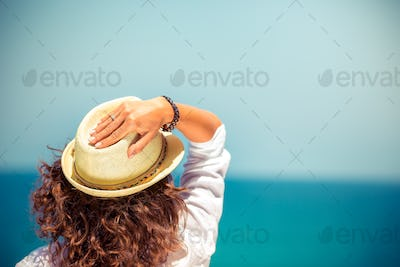 Young woman on summer vacation