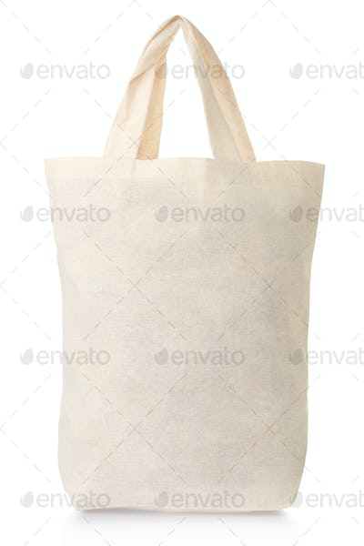 Fabric canvas full bag isolated on white