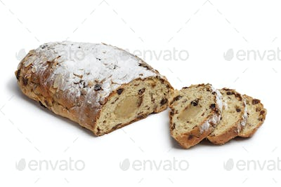 Traditional dutch easter bread and slices