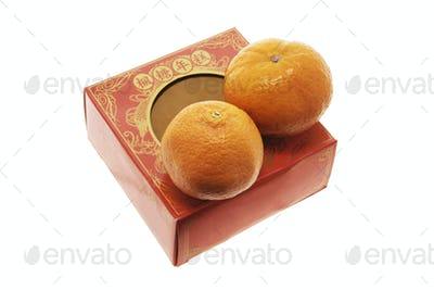 Mandarins and Chinese New Cake