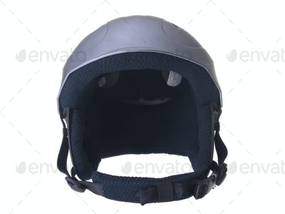 Helmet front view isolated on white  background