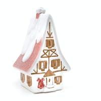 christmas house isolated on white
