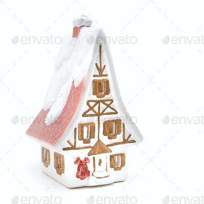 christmas house isolated on white
