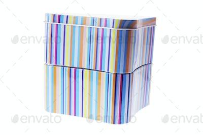 Striped Tin Boxes