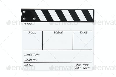 White Clapperboard (with Path)