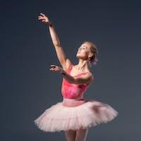 Portrait of the ballerina in ballet pose