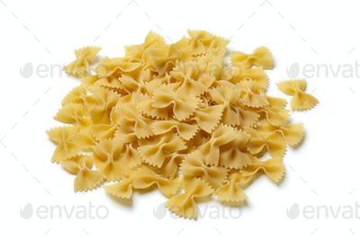 Heap of traditional Italian farfalle