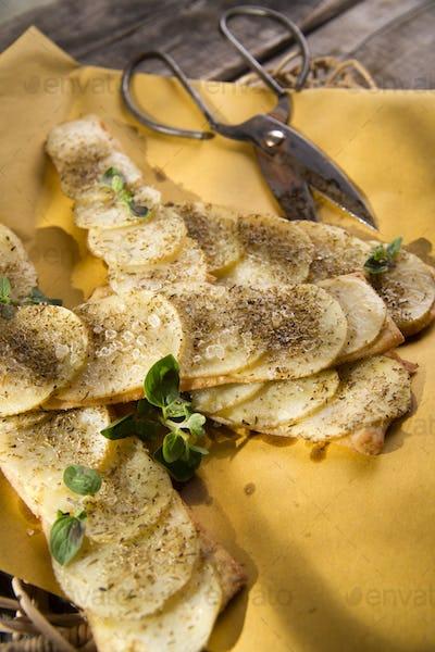 Focaccia with potatoes