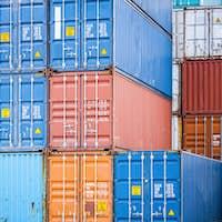 cargo containers closeup