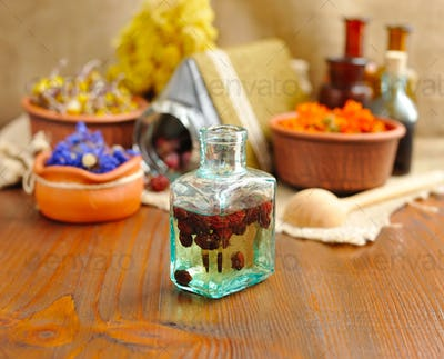 Tincture of berries, herbal medicine