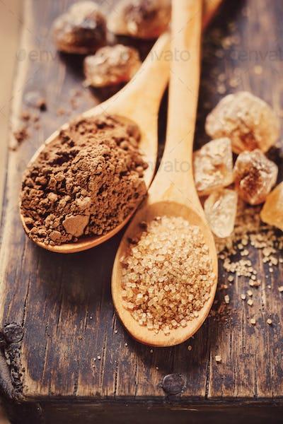 Brown Sugar and Cocoa Powder