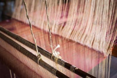 Vintage manual weaving loom